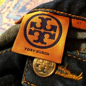 Tory Burch Dark Wash Straight Leg Jeans - B4